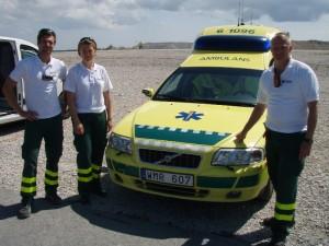 Daniel, Martina och Tord under SMC dagarna på Gotland ring 2011.